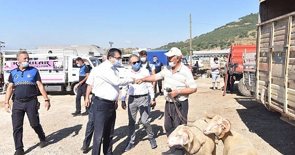 Çan'da Kurban satış alanı düzenlendi