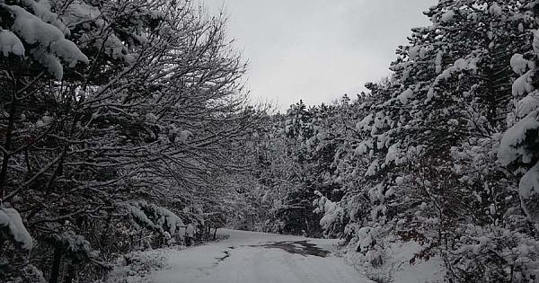 Çanakkale'den kar manzaraları