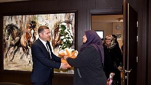 Çanlı kadınlardan Başkan Kuzu'ya teşekkür