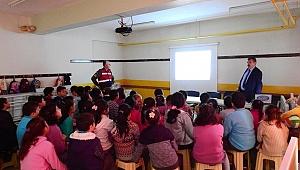 Yenice'de öğrencilere trafik eğitimi verildi