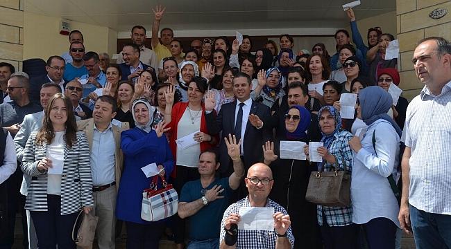 Çanakkale'den Erdoğan'a yoğun destek