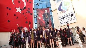 Çanakkale Koleji'nde mezuniyet coşkusu