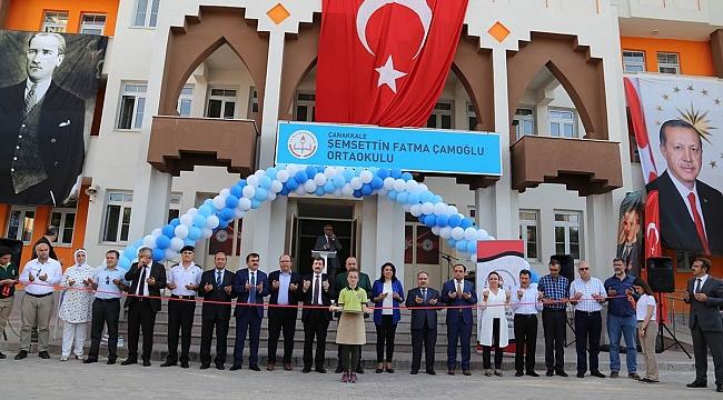 Şemsettin Fatma Çamoğlu Ortaokulu törenle açıldı