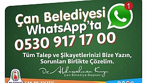 Whatsapp hizmet hattı oluşturdu