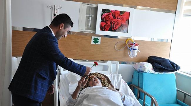 Hastane yönetiminden hastalara ziyaret