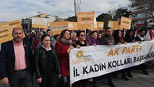 AK Partili kadınlardan 'Şiddete Hayır' yürüyüşü