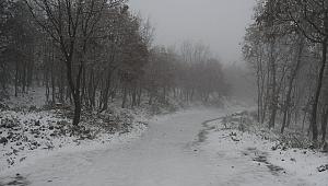 Lapseki köylerinde kar yağışı