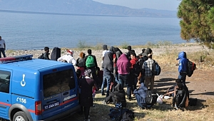 Ayvacık'ta 21 kaçak göçmen yakalandı