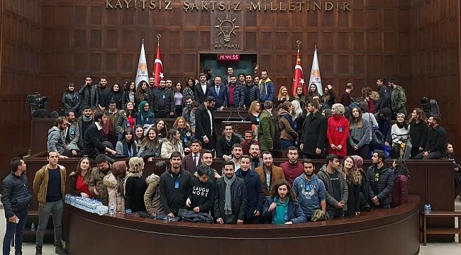 Turan, ÇOMÜ öğrencilerini TBMM'de ağırladı