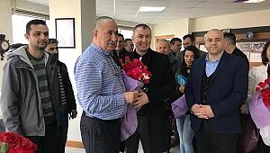 Aday olarak ilk ziyareti Kepez Belediyesi'ne