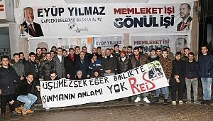 AK Partili gençlerden Turan'a coşkulu karşılama