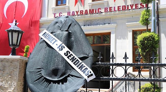 İşçilerden Bayramiç Belediyesi'ne protesto