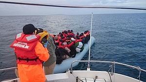 Ayvacık'ta 46 kaçak göçmen yakalandı