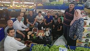Erdoğan güne esnafla kahvaltı yaparak başladı
