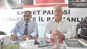 """Güneşhan; """"Kriz Çanakkale'yi çok kötü etkiledi"""""""