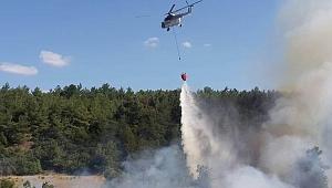 Radar tepesinde korkutan orman yangını