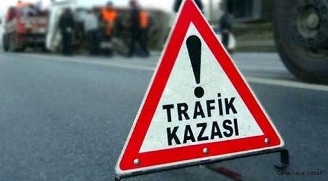 Ayvacık'ta trafik kazası; 1 ölü, 1 yaralı