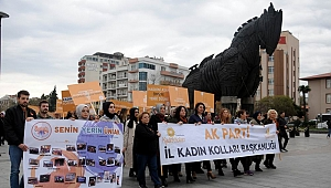 AK Partili kadınlardan 25 Kasım yürüyüşü