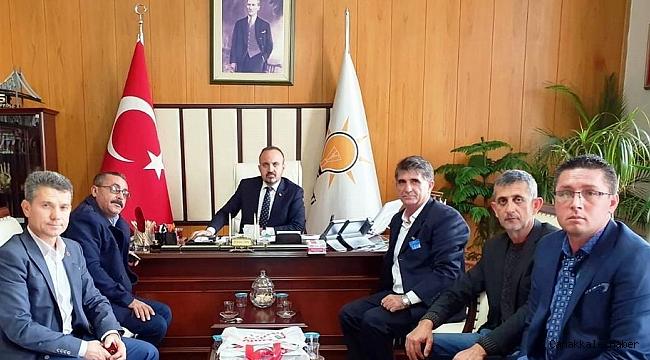 Biga'lı muhtarlar ve Başkan Yüksel Ankara'da