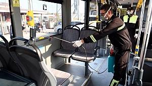 Halk otobüsleri ilaçlanıyor
