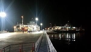 Lapseki'de feribot iskelesi tamamlandı