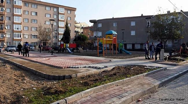 Orköy Parkı'nda yenileme çalışması