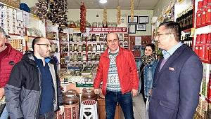 Başkan Öz'den esnafa ziyaret