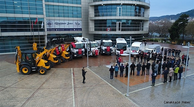 Biga Belediyesi'ne yeni araçlar