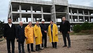 Turan, 100 Milyon TL'lik tesisin devam eden çalışmalarını inceledi