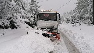 158 köyde, 30 ekip karla mücadelede