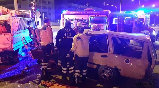 Adalet Sarayı kavşağında trafik kazası; 2 yaralı