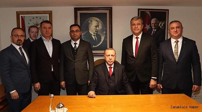 Başkanlar Cumhurbaşkanı ile görüştü