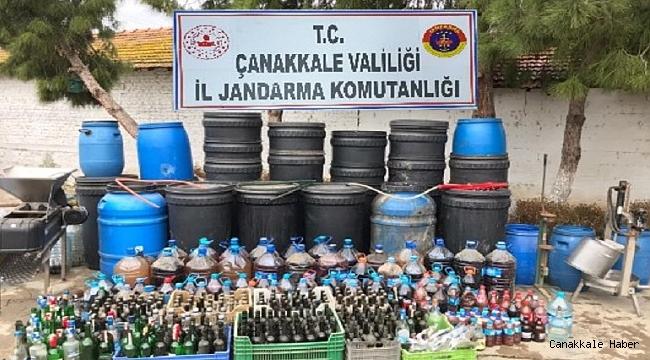 Biga ve Lapseki'de kaçak içki operasyonu