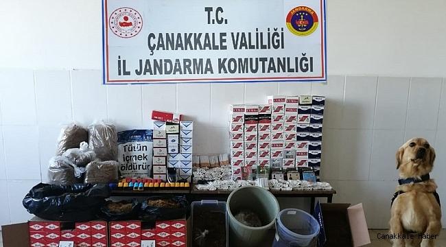 Çardak'ta kaçak tütün operasyonu