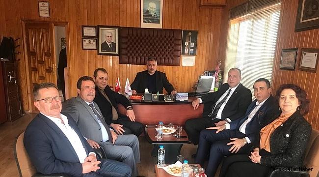 ÇTSO Yönetiminden üyelere ziyaret