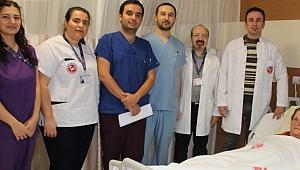 ÇOMÜ'de 'laparoskopik pyeloplasti' ameliyatı