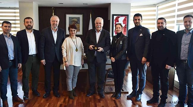 Mutlu'dan Başkan Gökhan'a ziyaret