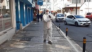 Belediyeden dezenfekte çalışması