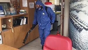 Belediyeden dezenfekte çalışması…