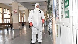 Çan'da dezenfekte ve ilaçlama çalışması