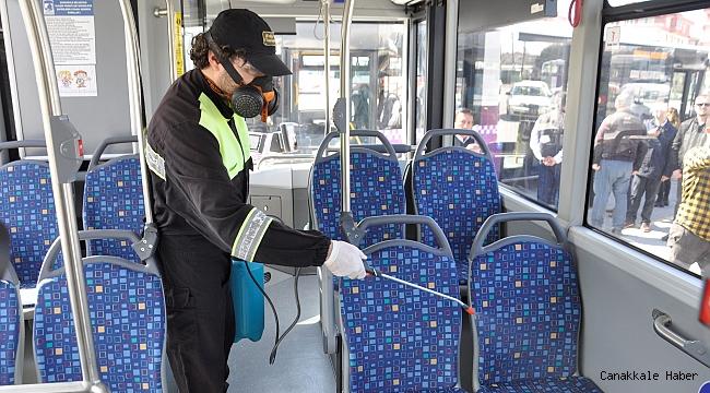 Halk otobüslerinde virüse karşı ilaçlama