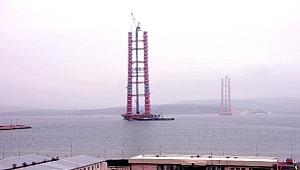 Köprü kuleleri 226 metreye ulaştı
