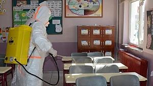 Lapseki'de dezenfekte çalışmaları