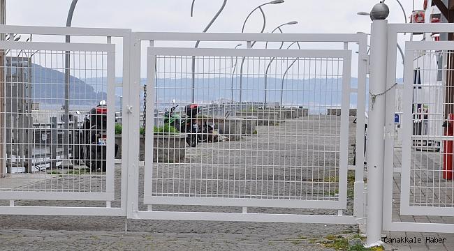Liman iskelesi kapatıldı