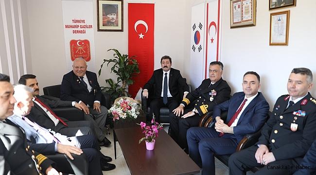 Vali Tavlı'dan Erdinç'e ziyaret