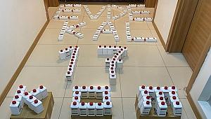 155 adet sahte dezenfektan ele geçirildi