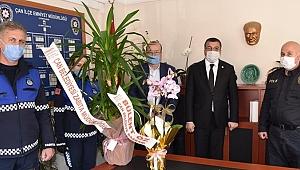 Başkan Öz'den polislere ziyaret