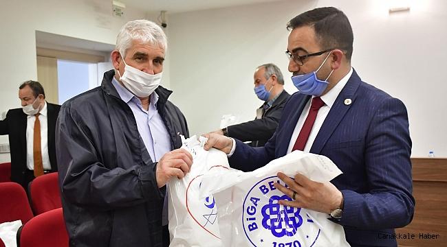 Biga Belediyesi'nden 10 bin maske