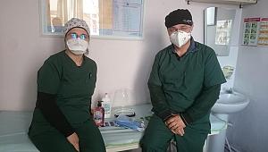 Biga'da sağlık çalışanlarına temizlik seti