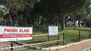 Piknik alanları kapatıldı